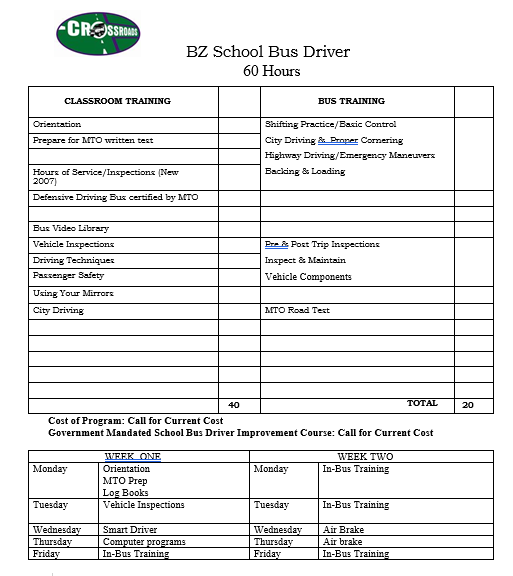 BZ School Bus Driver Training