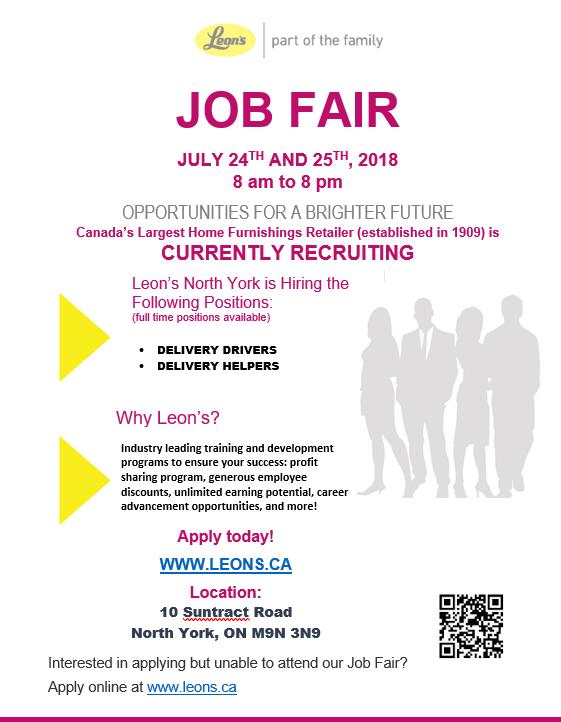 Leons Job Fair